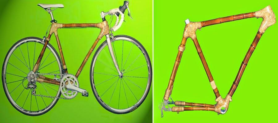sepeda bambu aur 1