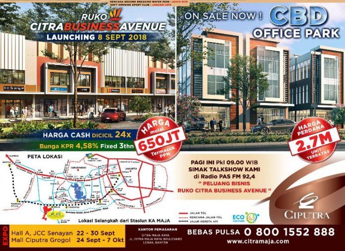 Citra Business Avenue, ruko di Citra Maja Raya