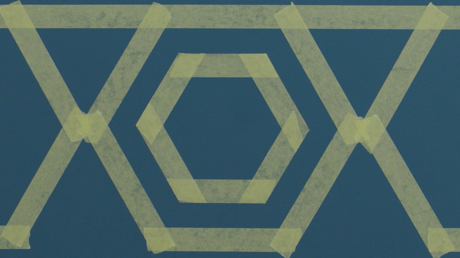 membuat pola sarang lebah