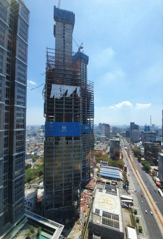 progres pembangunan gedung indonesia 1