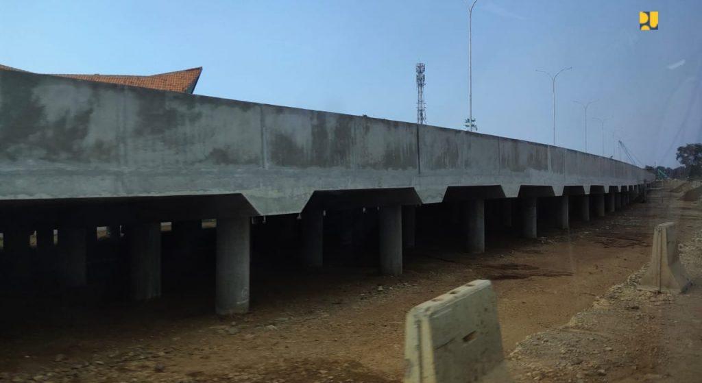 Jalan akses menuju ke Pelabuhan Patimban