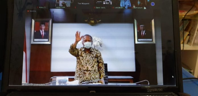 Menteri Basuki Resmikan Proyek Senilai Rp227 Miliar di Dharmasraya