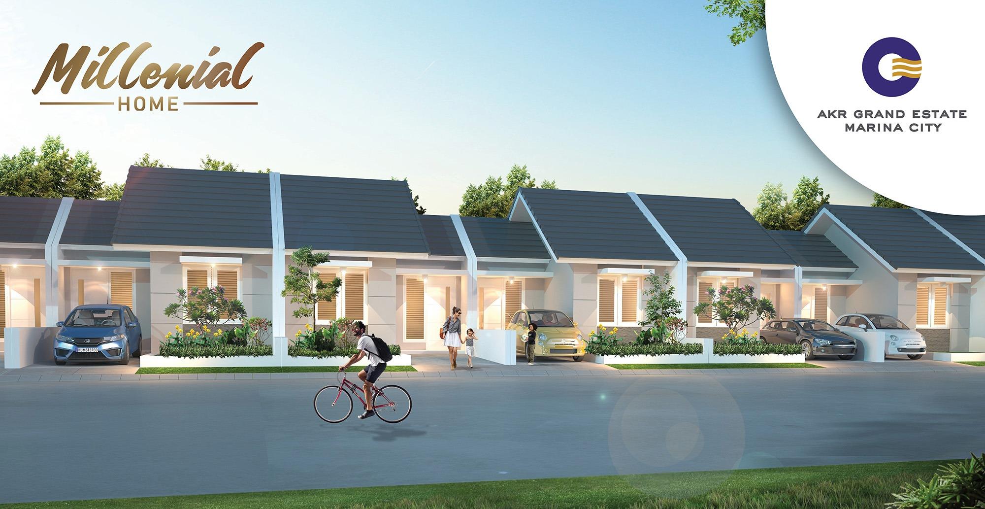 Millenial Home berada di Cluster Garnet Place