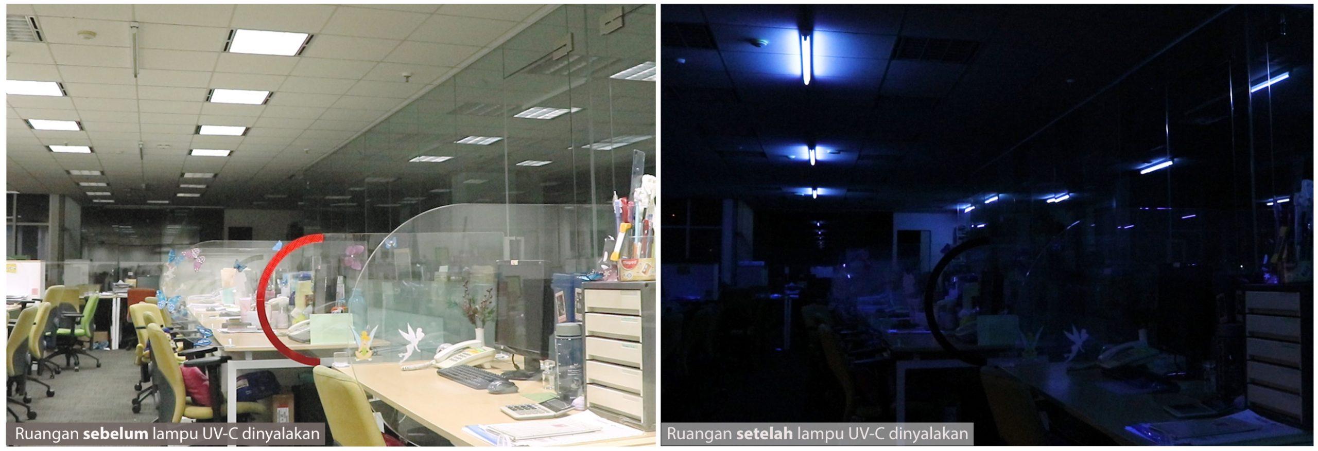 Penerapan lampu UC-V di Ruang Kerja Kantor_2