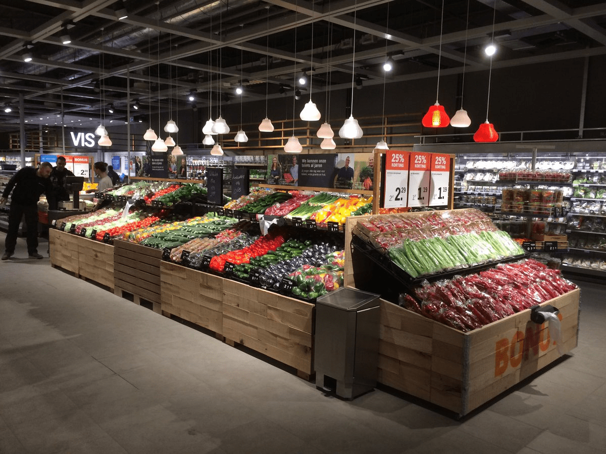 3D printed luminaires in Albert Heijn store