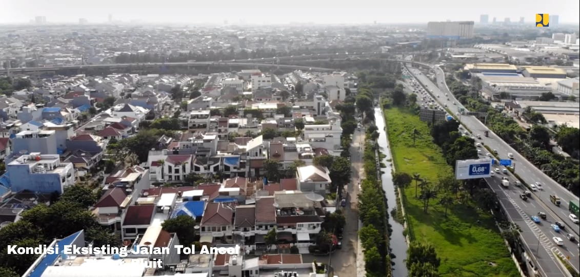 Kondisi eksisting Jalan Tol Ancol Timur–Pluit