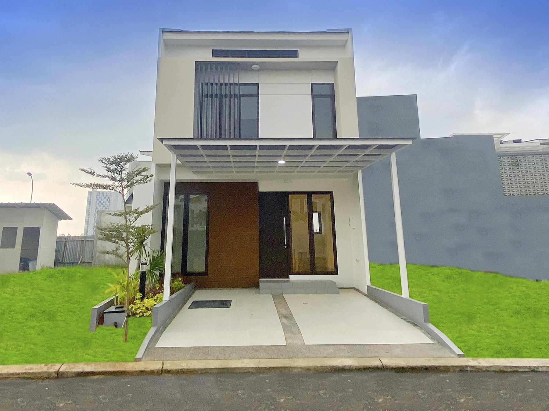 Rumah di Cluster New Shinano yang dibangun dengan material Precast M Panel besutan PT Modern Panel Indonesia