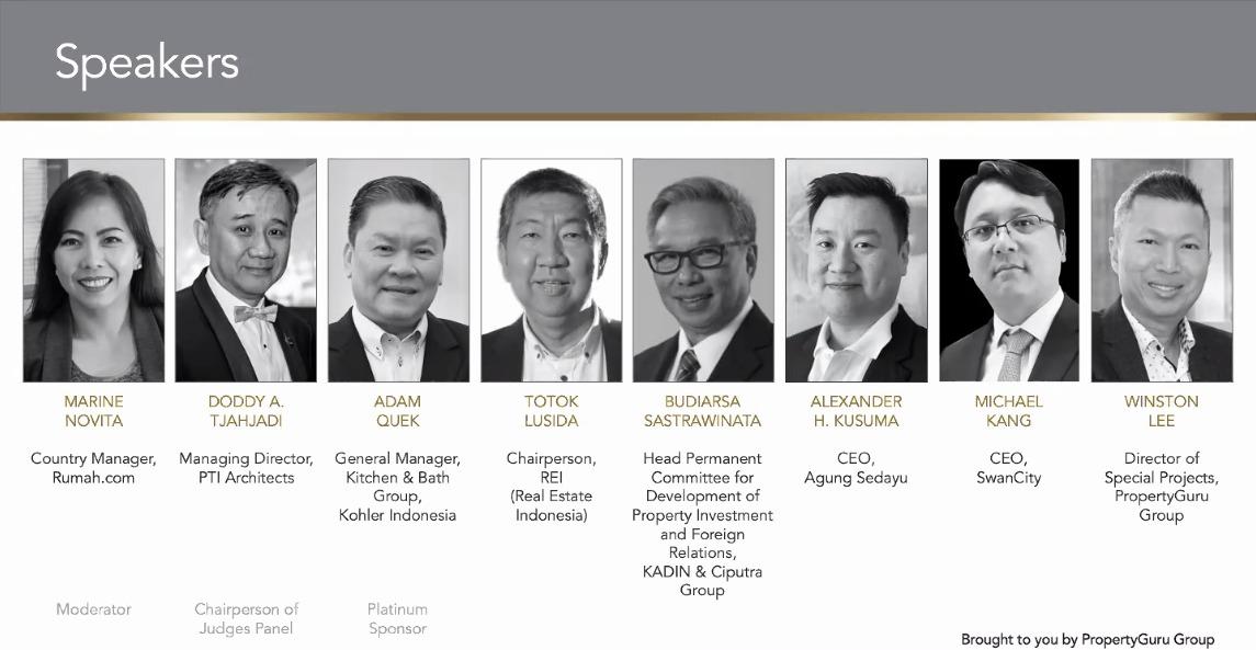 Para narasumber dalam diskusi CEO virtual oleh PropertyGuru